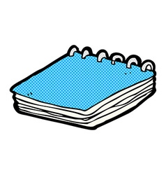 Comic cartoon notepad vector
