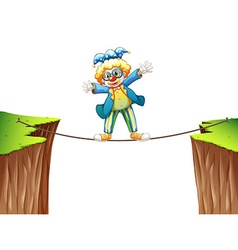 Clown standing on the rope vector