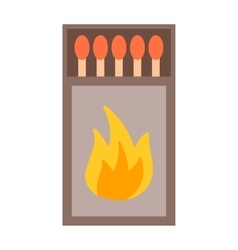 Burning matches sticks vector