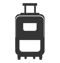 black and white travel bag graphic vector image