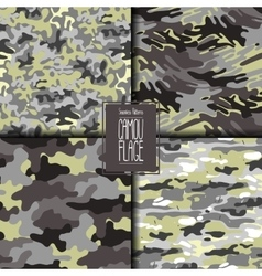 Abstract camouflage pattern set vector