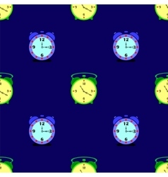 Alarm Clock Seamless Pattern vector image vector image