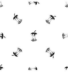 Apple core pattern seamless black vector