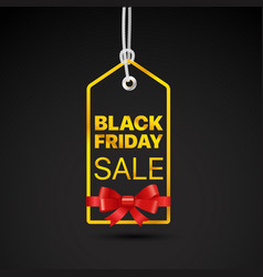 Black friday golden label black friday sale tag vector