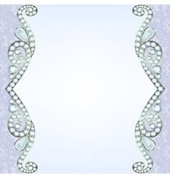 Border with diamonds vector