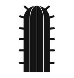 Cereus candicans cactus icon simple style vector