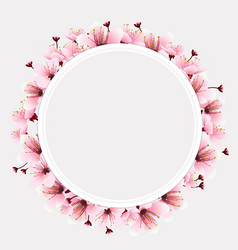 circle space with flower vector image vector image