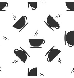 Coffee cup icon seamless pattern on white vector