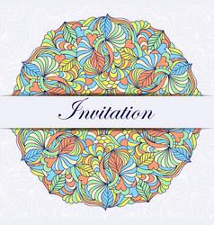 Colorful invitation card vector
