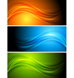 Colourful banners vector image