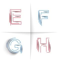 Creative graphic alphabet vector