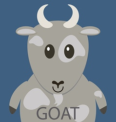Cute grey goat cartoon flat icon avatar vector image vector image