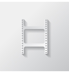 Film web icon filmstrip symbol vector
