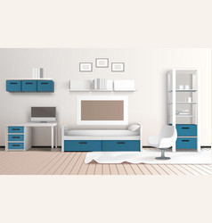 Keeping room apartment composition vector
