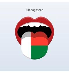 Madagascar language abstract human tongue vector