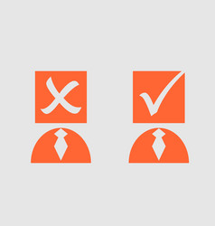 man person icon with check mark vector image