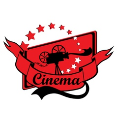 Retro Cinema Design vector image