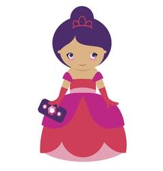 Rose princess vector image vector image