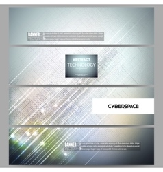 Set of modern banners Abstract science or vector image vector image