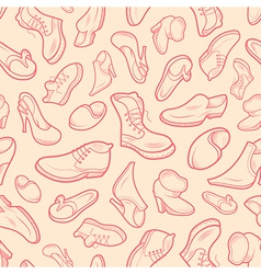 Shoes of various type vector