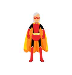super grandmother senior woman superhero wearing vector image vector image