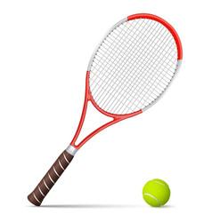 Tennis racket and ball vector image