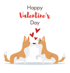 valentines day holiday card dog vector image