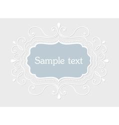 Vintage frame with floral elements vector image vector image