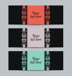 Vintage set labels vector image