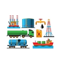 Oil extraction transportation vector