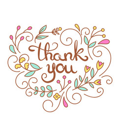 thank you text poster thanksgiving card vector image