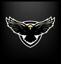 Eagle in flight logo symbol vector