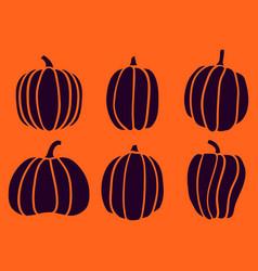 halloween six pumpkin 4 vector image