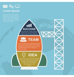 Startup infographic vector