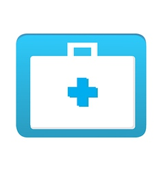 First aid bag icon vector