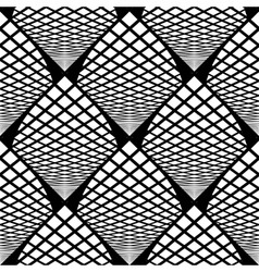 Design seamless monochrome checked pattern vector
