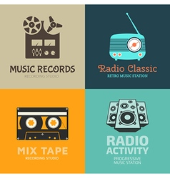 Audio logo set vector