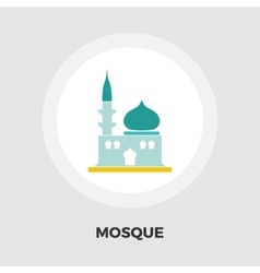Mosque icon flat vector