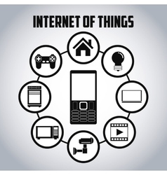 Internet of things icon set design vector