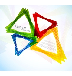 Background with colorful triangles vector