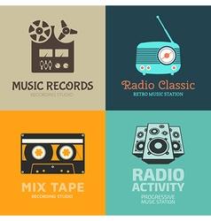 Audio logo set vector
