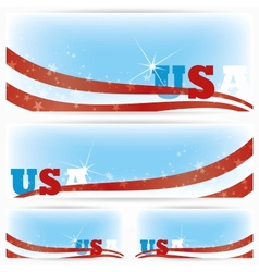 Background banners of USA flags brochure vector image