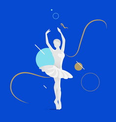 beautiful female ballet dancer vector image