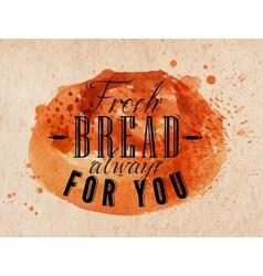 Bread poster kraft vector
