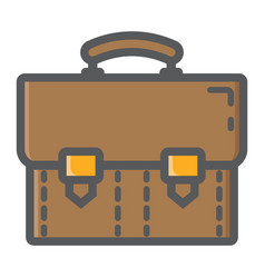 Briefcase colorful line icon business portfolio vector