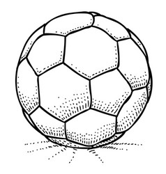 Cartoon image of soccer ball icon football symbol vector