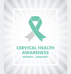 cervical cancer awareness vector image vector image