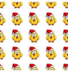 Chicken Santa On White vector image vector image