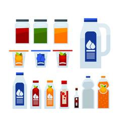 Different liquid in bottles vector