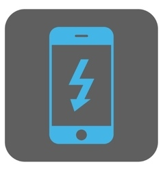 Electric smartphone rounded square icon vector